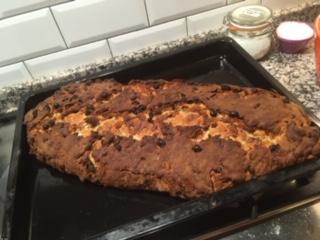 German Christmas Cake baked